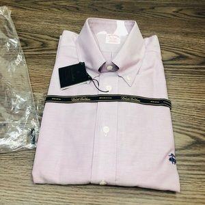 Brooks Brothers NWT Lavender Oxford Shirt L
